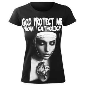 AMENOMEN GOD PROTECT ME FROM CATHOLICS Čierna S