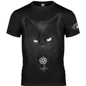 tričko hardcore AMENOMEN BLACK CAT Čierna XL