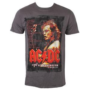 tričko metal ROCK OFF AC-DC Donington Set List Čierna S