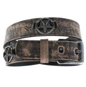 opasok s kovom Leather & Steel Fashion brown