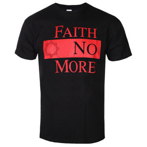 Tričko metal ROCK OFF Faith no More Classic New Logo Star Čierna S