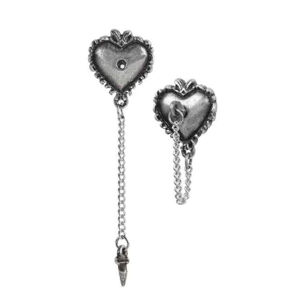 náušnice ALCHEMY GOTHIC - Witches Heart - E433